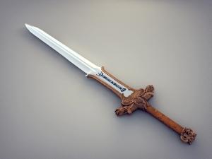 printed sword